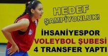 İhsaniyespor voleybolda şampiyonluk hedefliyor