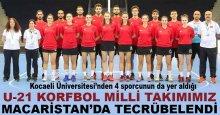 Milli korfbolcularımız Macaristan'da tecrübe kazandı