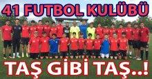 41 Futbol Kulübü U-16 ve 17 takımları testten geçti
