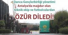 Darıca Gençlerbirliği yönetiminden ÖZÜR!