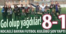 """Kocaeli Bayan Futbol gol olup yağdı! """"8-1"""""""