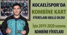 Kocaelispor'da kombine kart fiyatları belli oldu!