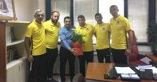 41 FK Teknik ekibi, Ağa'yı ziyaret etti