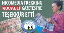 Nicomedia Trekking'den Kocaeli Gazetesi'ne teşekkür