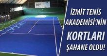 İzmit Tenis Akademisi kortları çok süper oldu