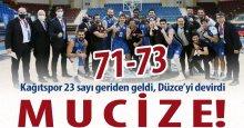 """Kağıtspor'dan mucize geri dönüş! Tam 23 sayıdan! """"71-73"""""""